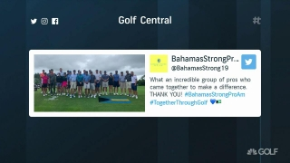 Leonard, Faxon aid relief efforts with Bahamas Strong Pro-Am