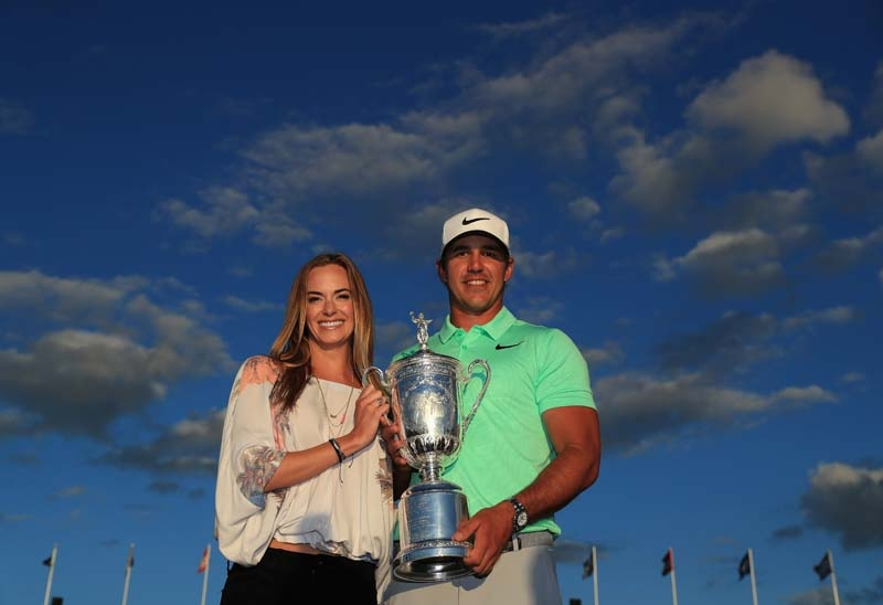 Brooks Koepka and Jena Sims