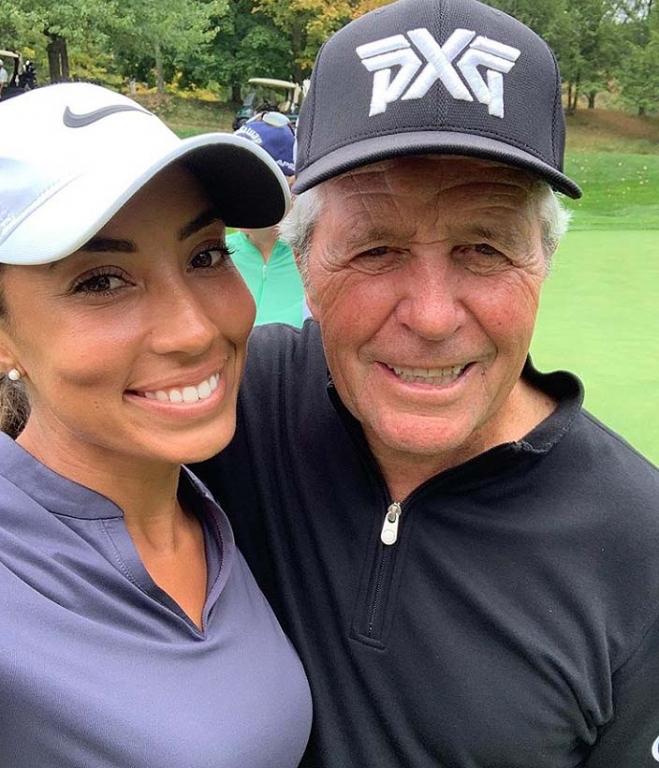 Cheyenne Woods and Gary Player
